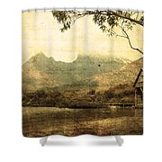 Cradled By Time Shower Curtain