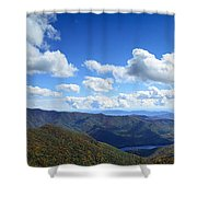 Craggy Gardens Draped In Clouds Shower Curtain