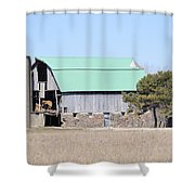 Craggy Old Barn Shower Curtain