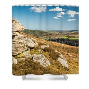 Crags Over Rothbury Shower Curtain