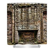 Craigsmillar Castle Fireplace Shower Curtain