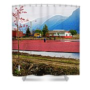 Cranberry Field Workers Shower Curtain