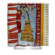 Cranberry Queen Of Portland - Framed Shower Curtain