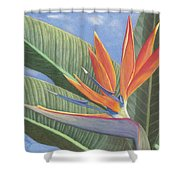 Crane Flower Paradise Shower Curtain