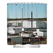 Cranes At Metal Factory, Bath Shower Curtain