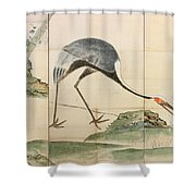 Cranes Pines And Bamboo Shower Curtain