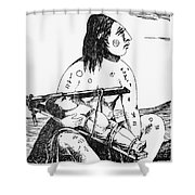 Cranium Shaping Shower Curtain