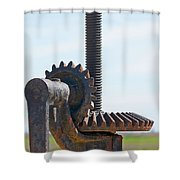 Crank And Gears Shower Curtain by Stuart Litoff