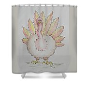 Cranky Turkey Shower Curtain