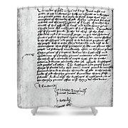 Cranmer Declaration, 1537 Shower Curtain