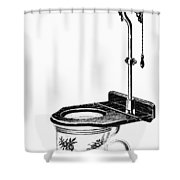 Crapper Toilet, 1890s Shower Curtain