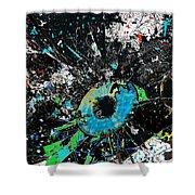 Crash Of The Eye Galaxy Shower Curtain