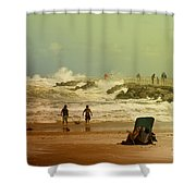 Crash Of The Waves Shower Curtain