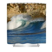 Crashing On The Cliff Shower Curtain