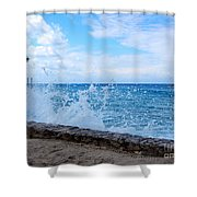 Crashing Waves In Cozumel Shower Curtain