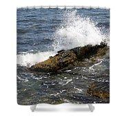 Crashing Waves - Rhode Island Shower Curtain