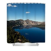 Crater Lake And Boat Shower Curtain