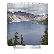 Crater Lake Or 10 Shower Curtain