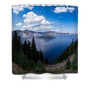 Crater Lake Pnorama - 2 Shower Curtain