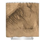 Crater On Mars Shower Curtain