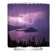 Crater Storm Shower Curtain by Chad Dutson