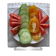 Craving For Fresh Vegetables Shower Curtain