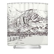 Crawford Needle Rock Shower Curtain