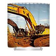 Crawler Excavator - Komatsu - Digger - Machinery Shower Curtain