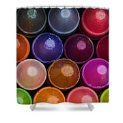 Crayons Shower Curtain