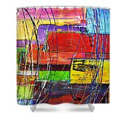 Crazy Abstract Shower Curtain