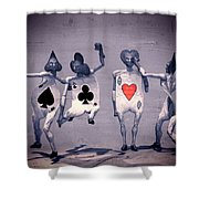 Crazy Aces Shower Curtain by Bob Orsillo