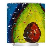 Crazy Avocado V Shower Curtain