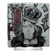 Crazy Carla Queen Of Charcoal Land Shower Curtain