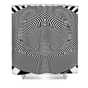 Crazy Circles Shower Curtain