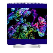 Crazy Elephant Ears Shower Curtain