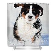 Crazy For Snow Shower Curtain