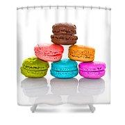 Crazy Macarons 2 Shower Curtain