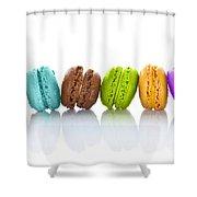 Crazy Macarons Horizontal Shower Curtain