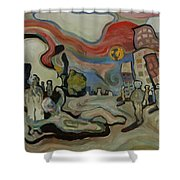 Crazy Moon Shower Curtain