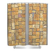 Crazy Paving Shower Curtain