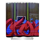 Crazy Red Shower Curtain