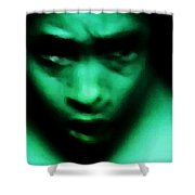 Crazy With Green Shower Curtain