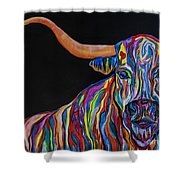 Crazy Woman Bull Shower Curtain