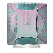 Cream Mint Mediterran Shower Curtain