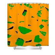 Creamsicle Orange Abstract Shower Curtain