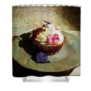 Creamy Cake Shower Curtain