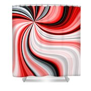 Creamy Red Graphic Shower Curtain