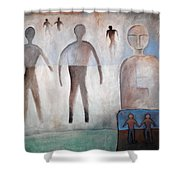 Creation Of Man And Woman Shower Curtain