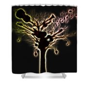 Creation Of Music Shower Curtain