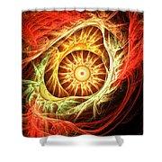 Creation Of Sun Shower Curtain by Lourry Legarde